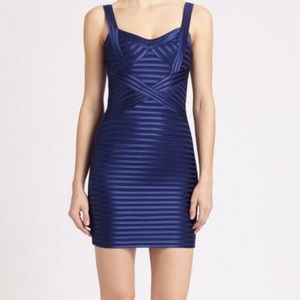 BCBG Short navy blue cocktail dress.